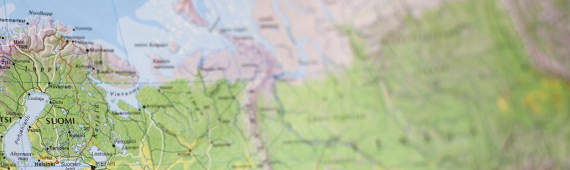 Kartta-Suomi-Venäjä karusellikuva