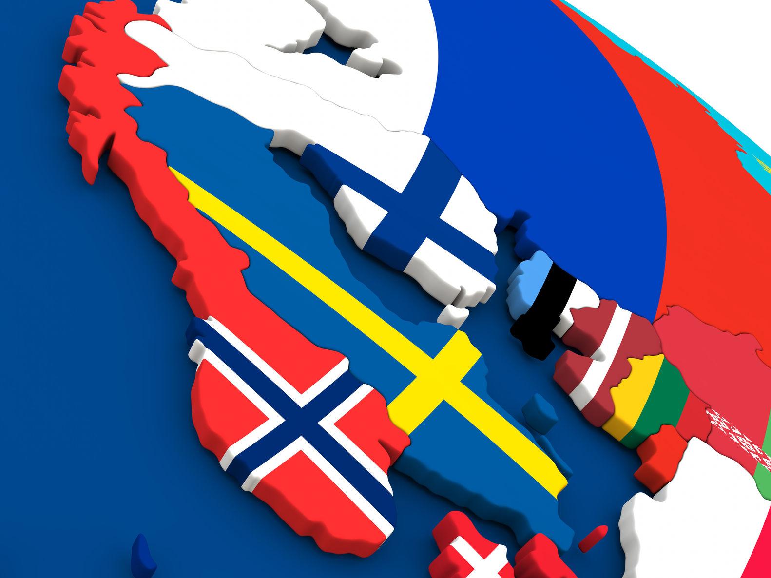 Speedfighter17 N Kuva Pohjoismaat Kartta Mostphotos