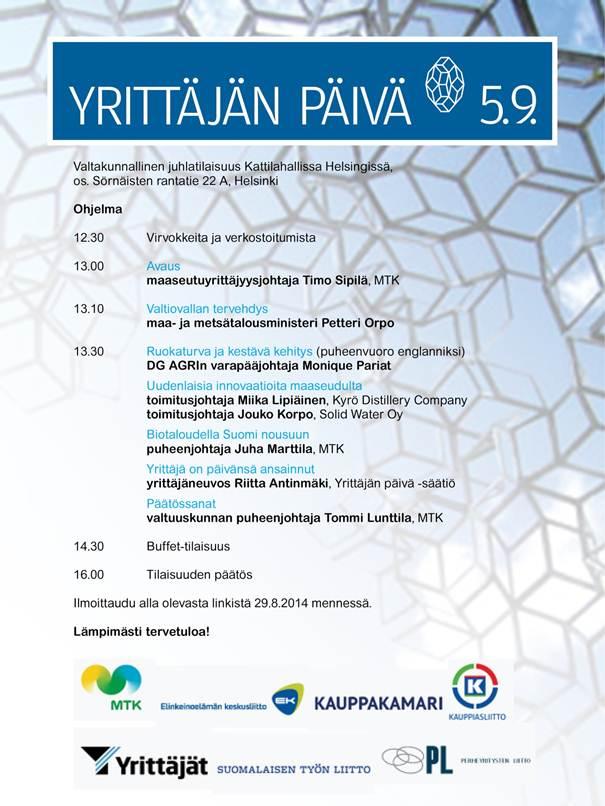 Yrittäjän Päivä 5.9.2014